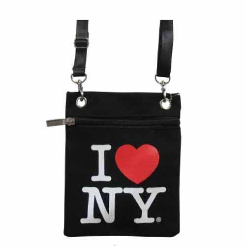 Black I love NY Neck Wallet