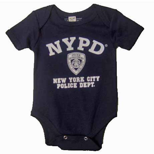 NYPD Full Chest Navy Onesie