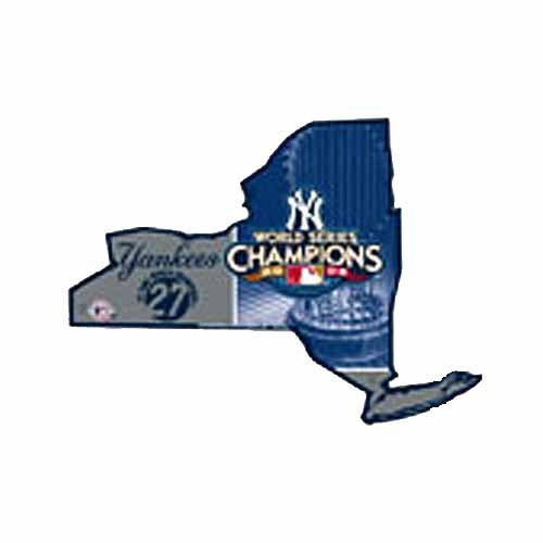 Yankees 2009 27 Time WS Champions NY State Sign