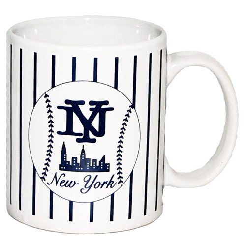NYC Baseball Pinstripe Mug