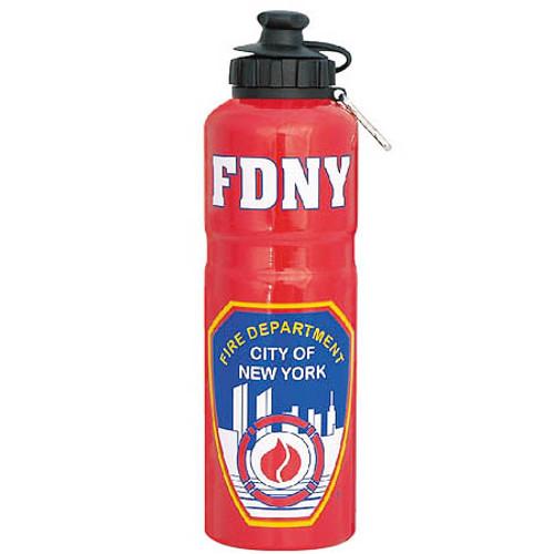 FDNY Red Water Bottle