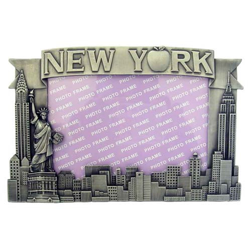 NY Apple Icons 4 x 6 Metal Picture Frame