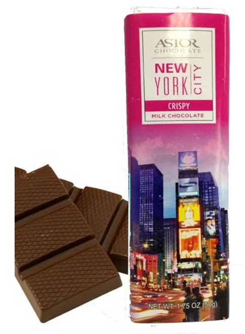 Times Square Crispy Milk Chocolate Bar