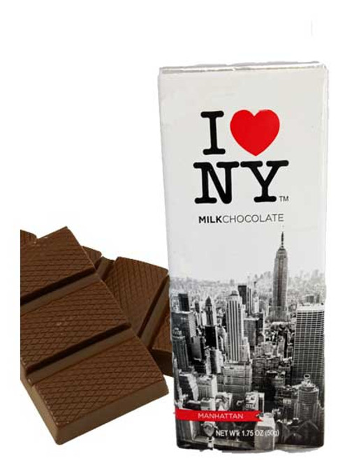 I Love NY Milk Chocolate Bar