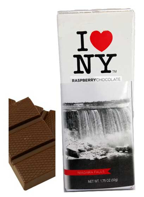 I Love NY Raspberry Dark Chocolate Bar - Niagara Falls