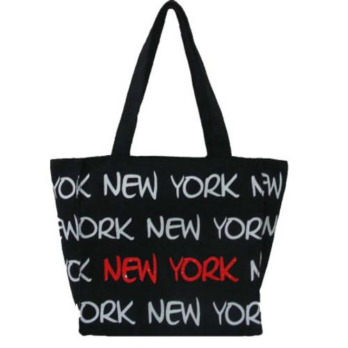 Robin-Ruth NY Black/White/Red Small Tote Bag