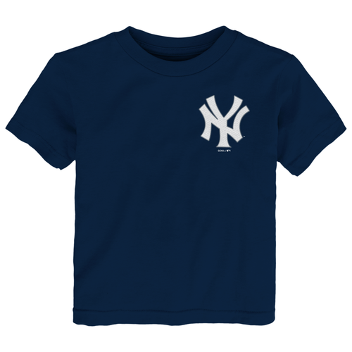Yankees Navy Wordmark Baby Tee