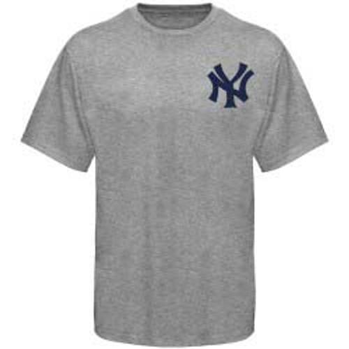Yankees Grey Wordmark Men's Tee