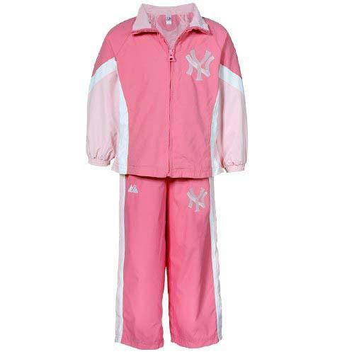 Yankees Girls Pink Nylon Windsuit