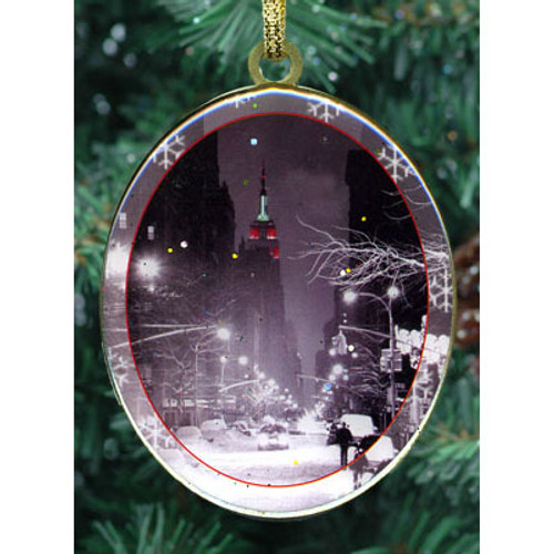 Snowy Empire State Double Sided Ornament