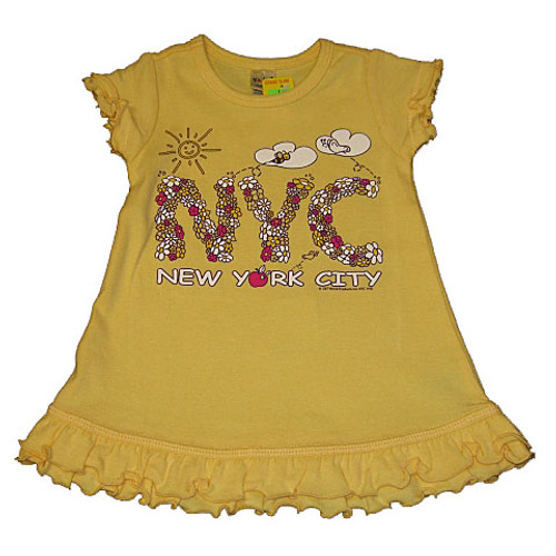 NYC Floral Yellow Infant Mini Dress
