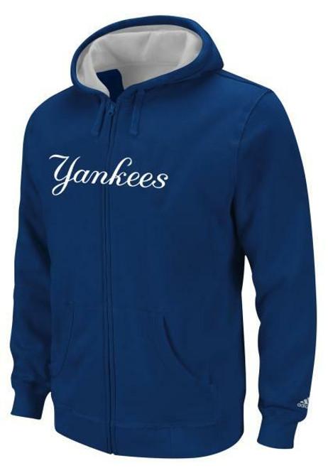 NY Yankees Navy Youth Full Zip Hooded Sweatshirt