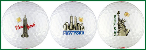 NYC Skyline Golf Ball White Variety 3-Pack