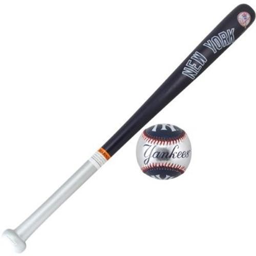 New York Yankees Wood Bat & Soft Strike Baseball Set