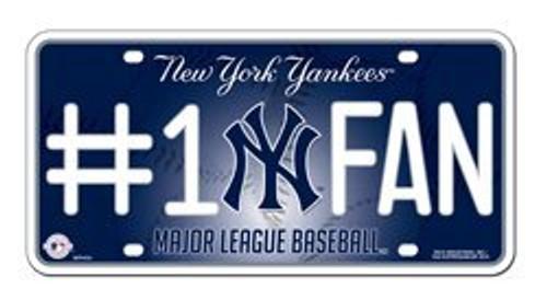 Yankees #1 Fan License Plate