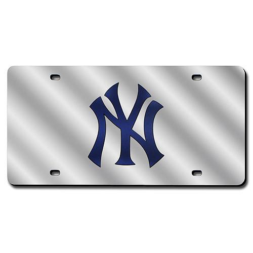 New York Yankees Silver Laser Tag