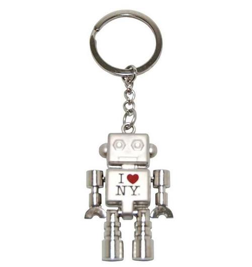 I Love NY Robot Keyring