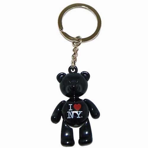I Love NY Black Bear Keyring