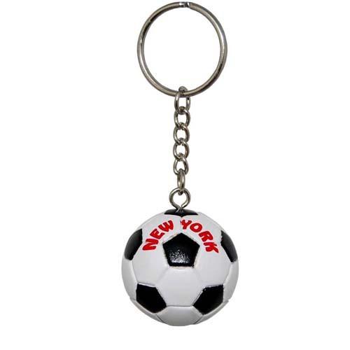 NY Soccer Ball Keyring