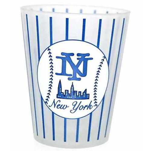 NY Baseball Pinstripe Frosted Shotglass