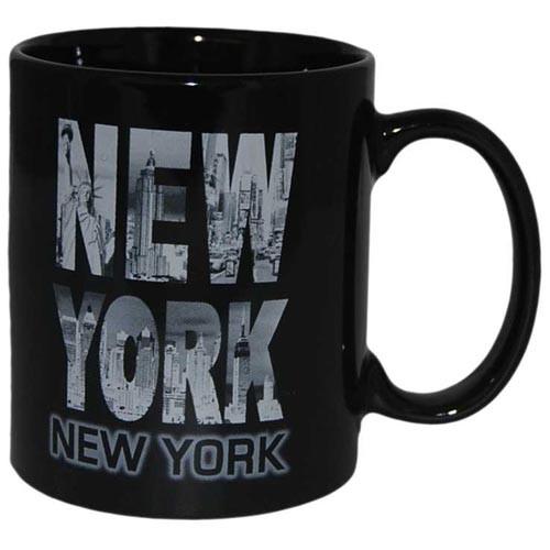 Black & White Letters Skyline 11oz Mug