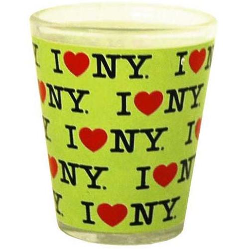 I Love NY Repeat Green Shotglass
