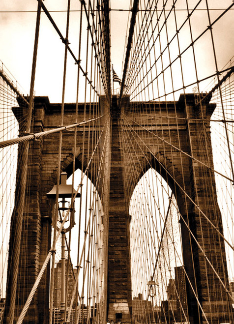 Brooklyn Bridge Ropes Photo Magnet