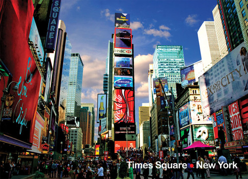 Times Square Photo Magnet