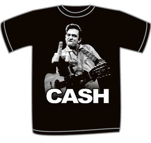 Johnny Cash Black Adult T-Shirt