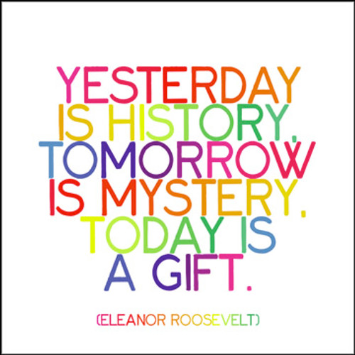 Yesterday Is History Quotable Card