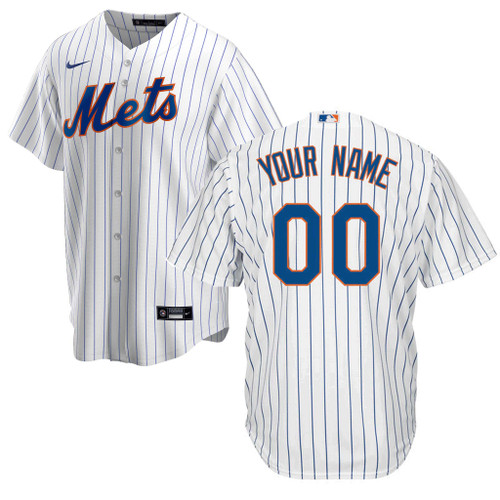 NY Mets Replica Personalized Youth Home Jersey