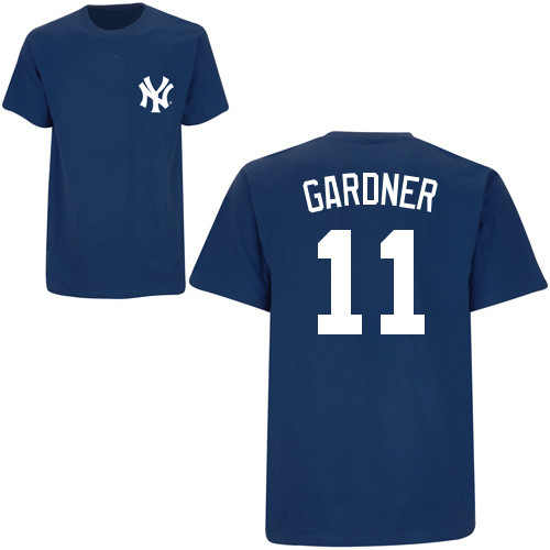Yankees Brett Gardner Name and Number Youth Tee
