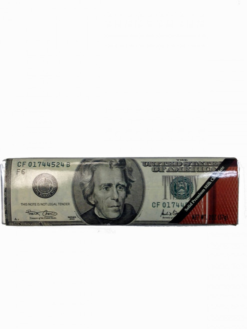 Twenty Dollar Bill Milk Chocolate Bar