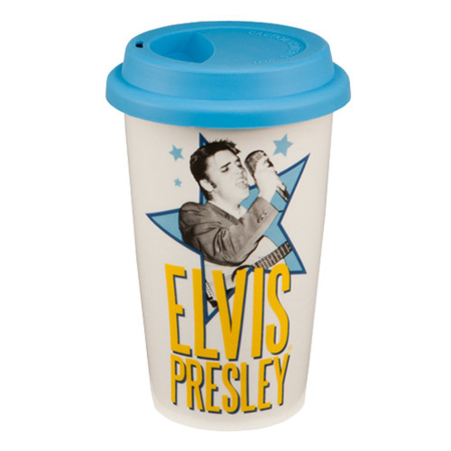 Elvis Presley 12oz Double Wall Ceramic Travel Mug