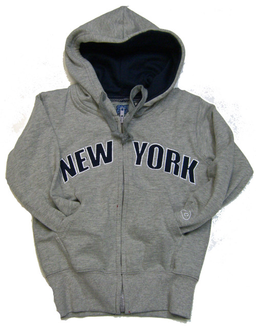 New York Kids Sweatshirt - Grey Zipper Hoodie
