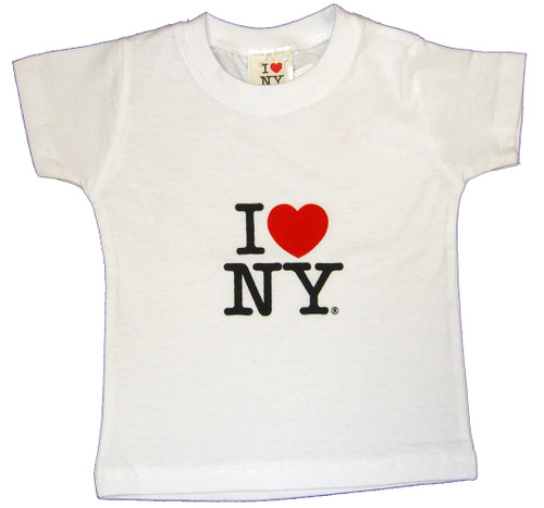 I Love NY Baby T-Shirt - White