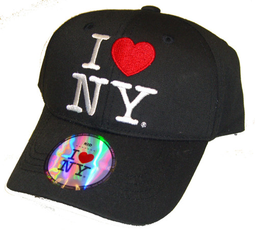 I Love NY Kids Hat - Black Cap