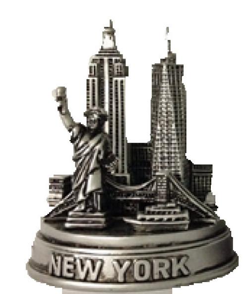NYC Landmarks 4 Inch Pewter Skyline Model
