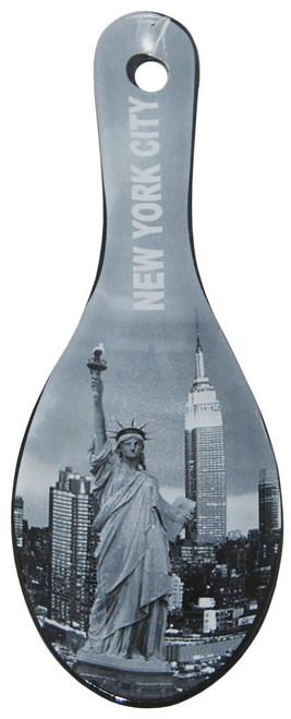 NYC Skyline Photo Ceramic Spoon Rest