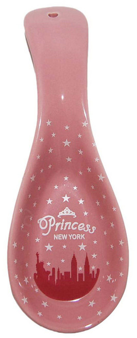 NYC Pink Princess Ceramic Spoon Rest