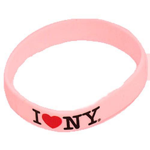 I Love NY Rubber Bracelet - Pink
