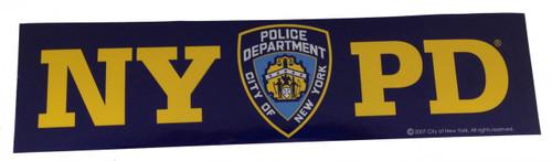 NYPD Navy Bumper Sticker