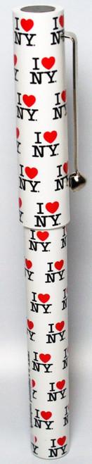 I Love NY Allover White Pen