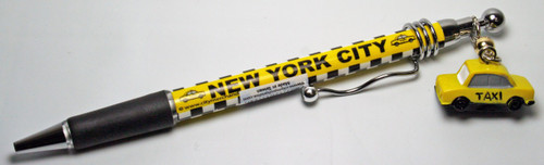 NYC Taxi Pen with Charm