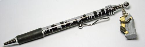 NYC Grey Skyline Pen with King Kong Charm