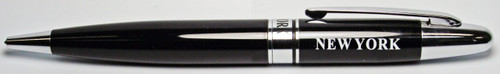 NY Silver Tip Black Ballpoint Pen