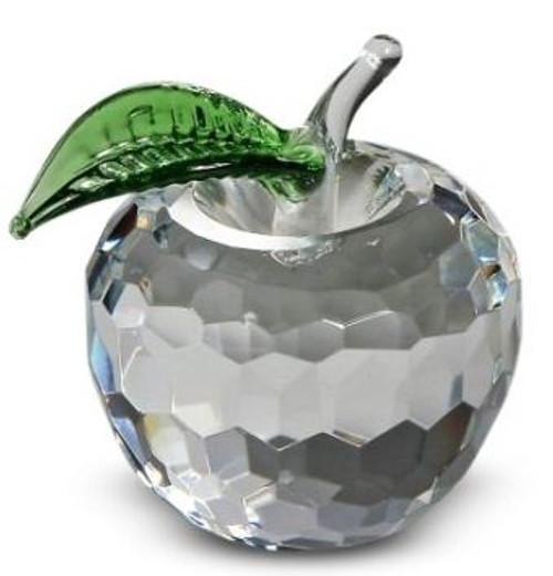 NYC Clear Crystal Apple - 2.5 Inch