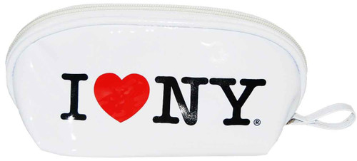 I Love NY White Cosmetic Bag