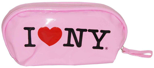 I Love NY Pink Cosmetic Bag
