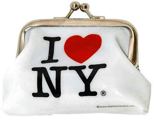 I Love NY White Coin Purse